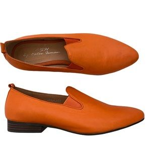 Fabulous loafers by ESH in citrus orange sz 38